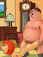 Lois and Meg Griffin get ass-banged by Family Guy